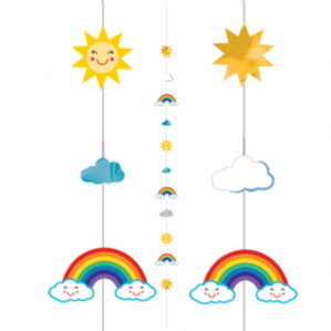Balloon Tails - Sun Rainbow Clouds Balloon Tail | Free Delivery Available